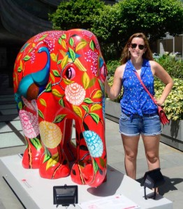 This colorful baby elephant statue welcomed us to our new apartment.