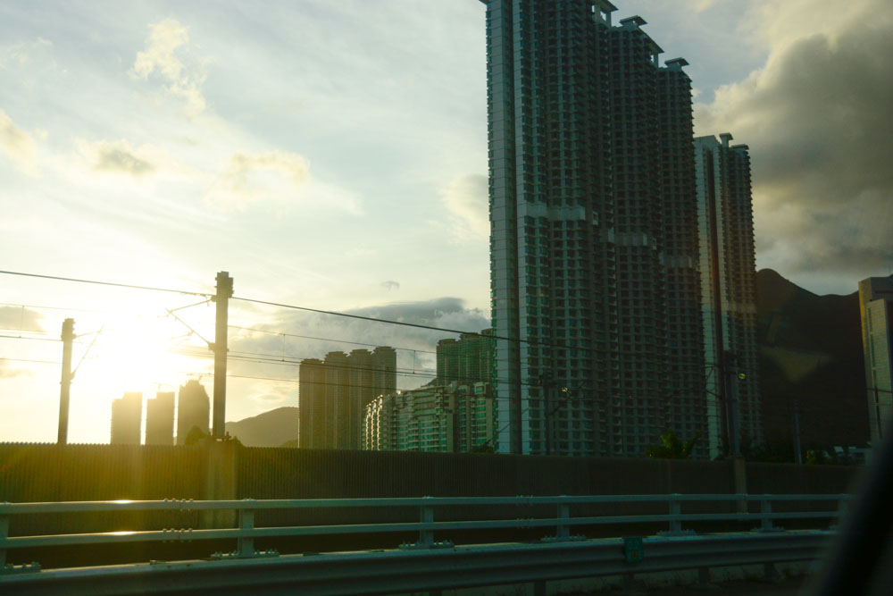 Our first glimpse of Hong Kong was at sunrise.