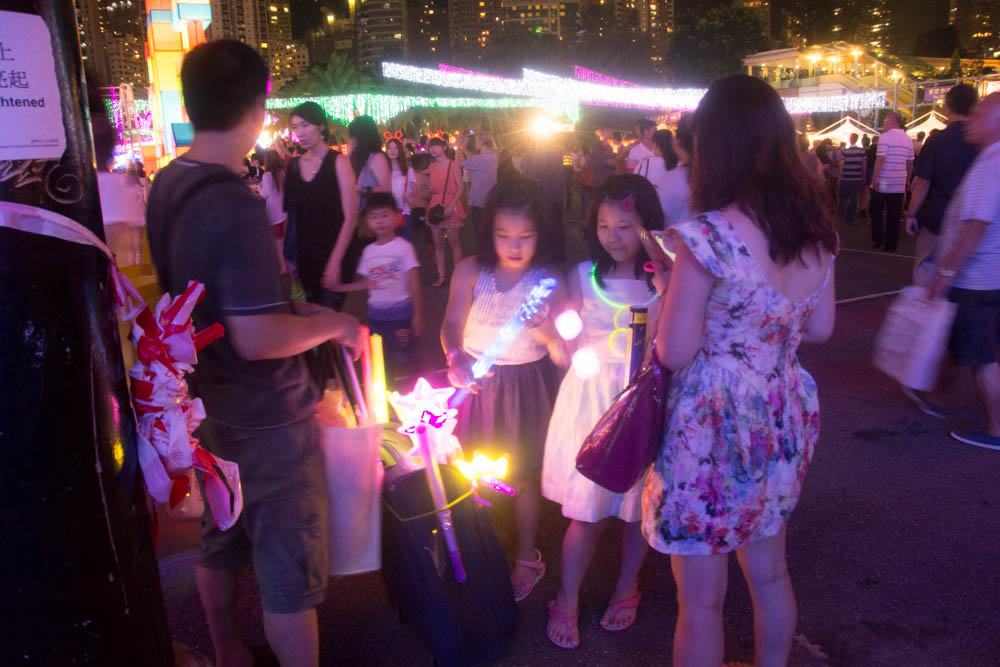 Children loved the glow in the dark necklaces and other souvenirs.