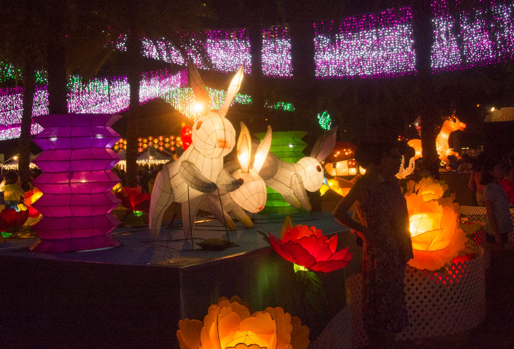 The Moon Rabbit is part of the folklore surrounding Mid Autumn Festival.