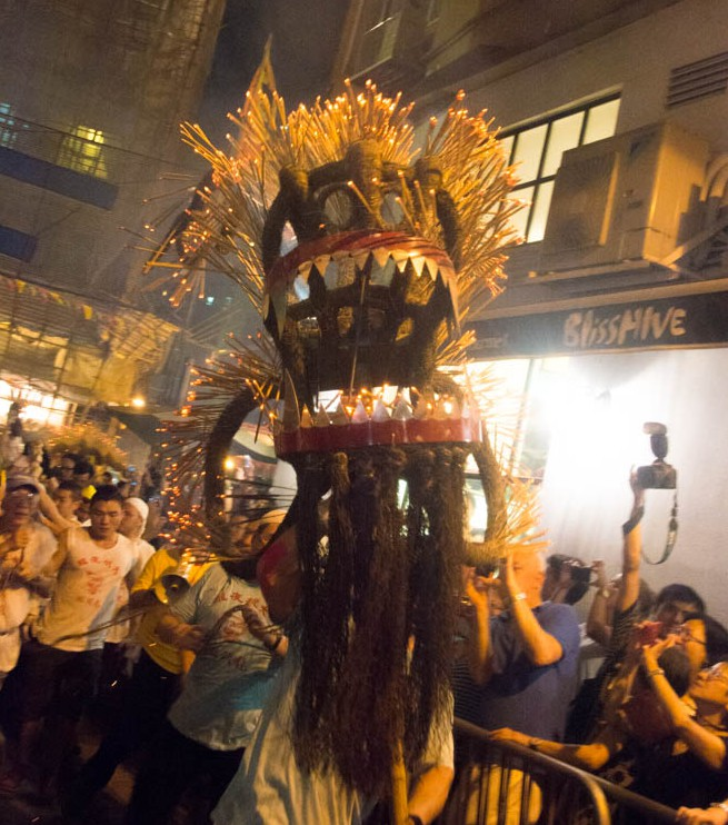 The dragon dance was the highlight of the festival.