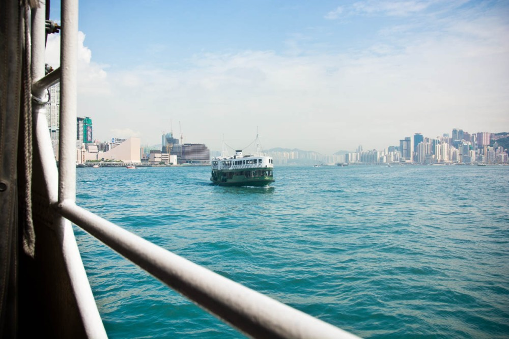There is a subway to take visitors across to Kowloon butI had a lovely ride across the Harbour on the Star Ferry.