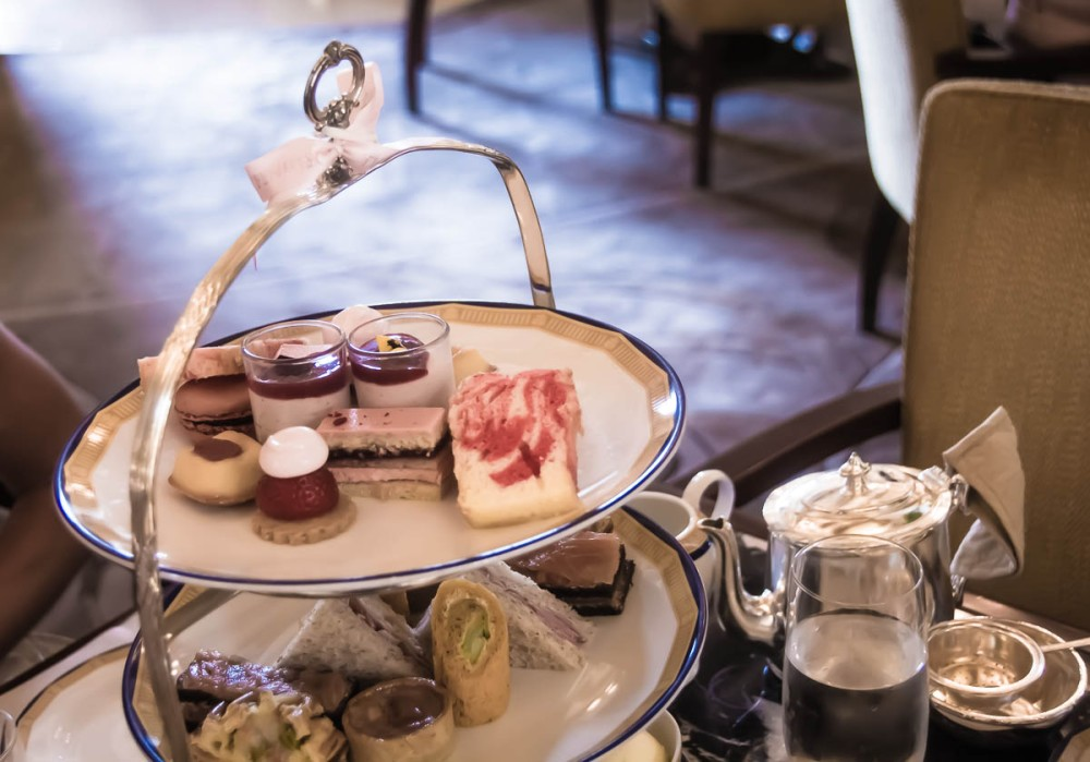 Afternoon tea at the Peninsula is an elegant affair.