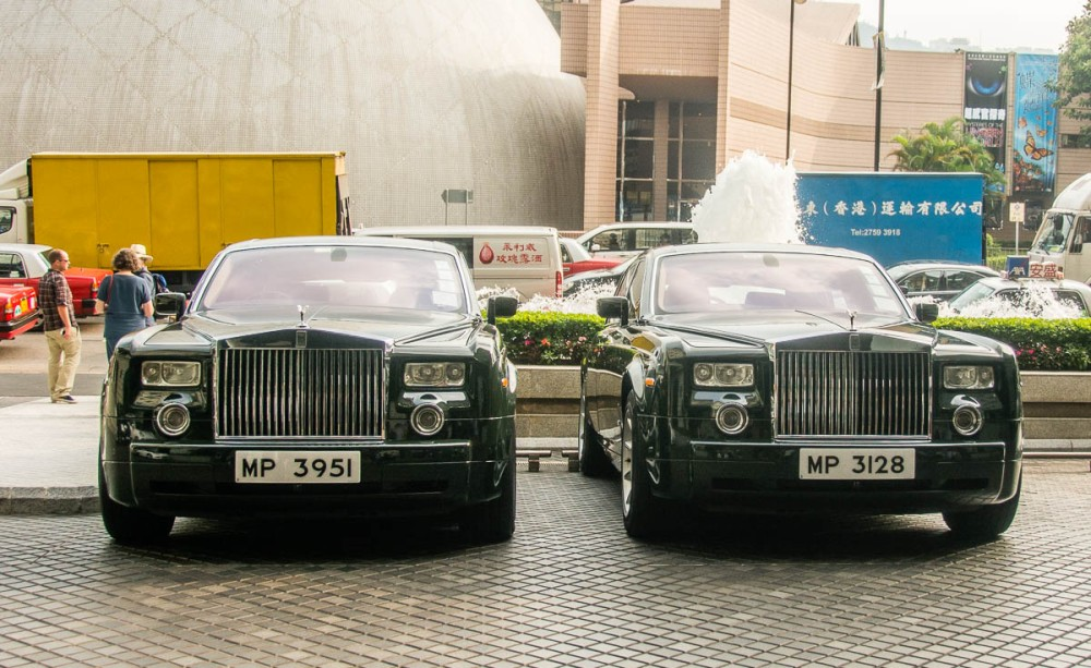 A fleet of Rolls-Royce Phantoms is available for use by hotel guests.