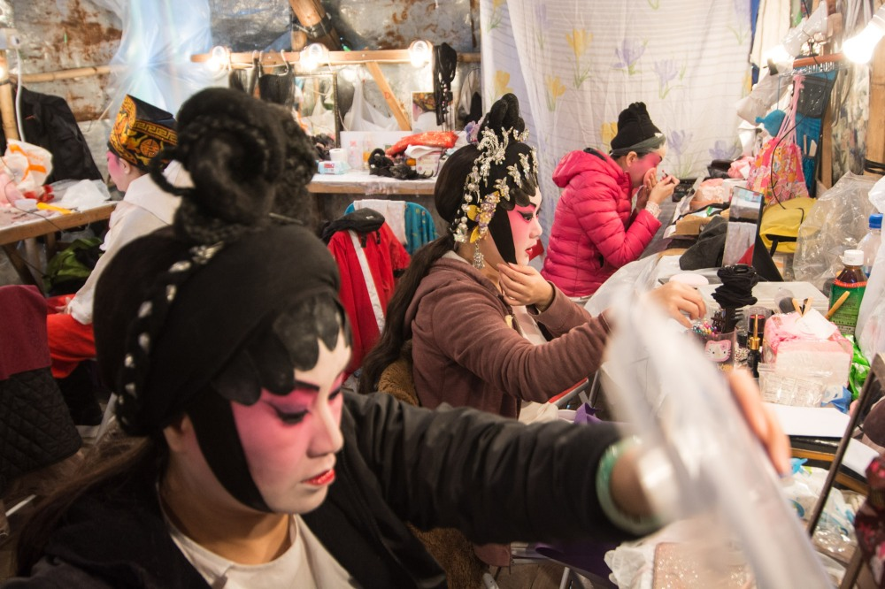 I had an opportunity to go backstage at a Chinese Opera performance.