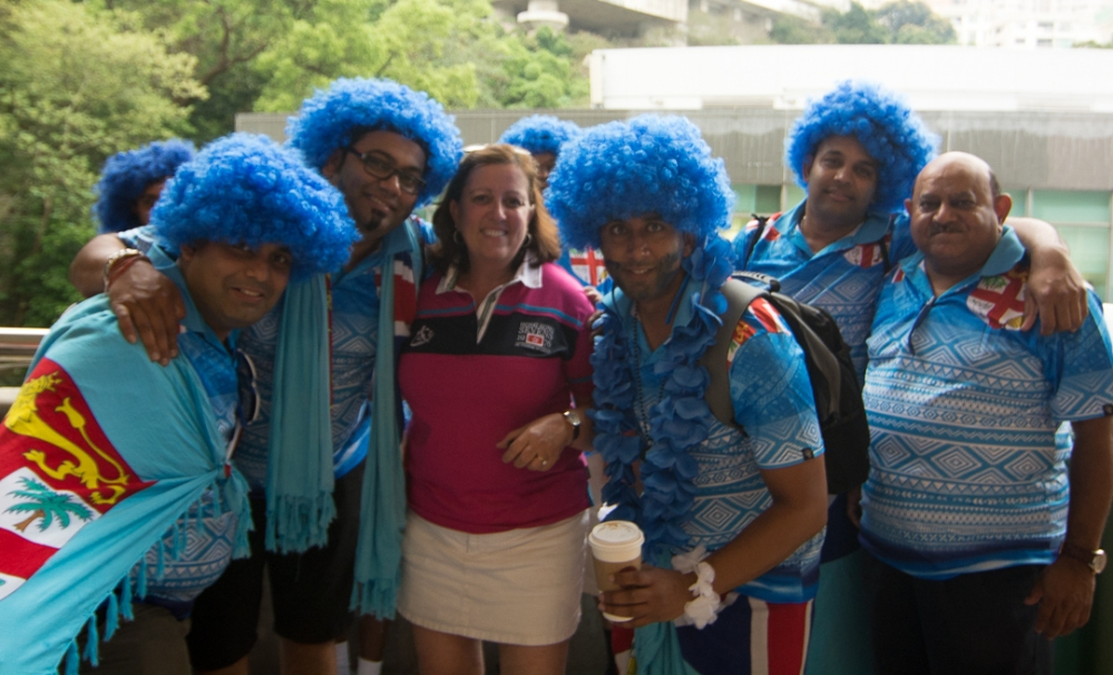 My favorite Sevens moment was meeting fans of the eventual winners, Fiji. Their fans were quite friendly and extremely enthusiastic.
