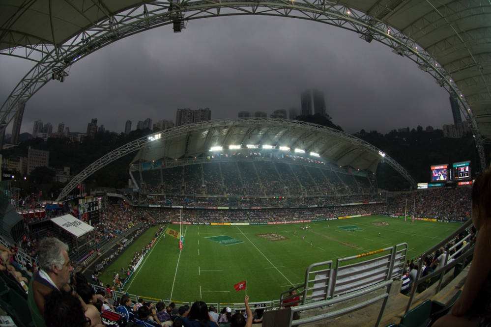 Hong Kong Stadium is a beautiful, modern structure which offers fans shade and cover from the elements.
