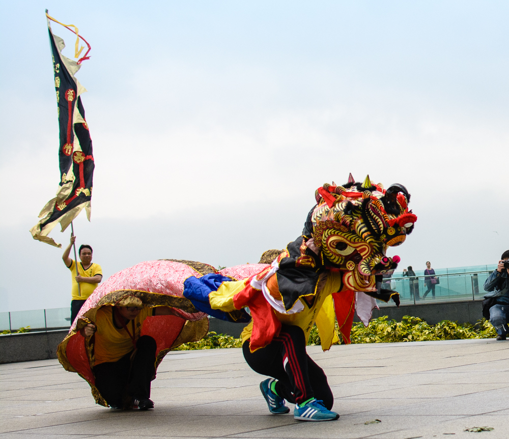 What St. Patrick's Day celebration would be complete without a lion dance?